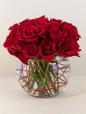 A Cluster of Romantic Red Roses