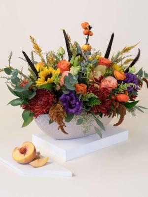 Ceramic Vase of Autumn Flowers