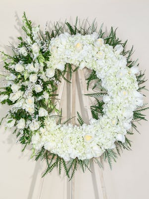 A Spectacular White Funeral Wreath