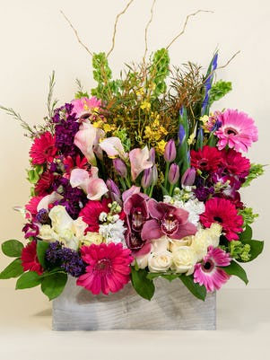 An Exotic Box Of Flowers
