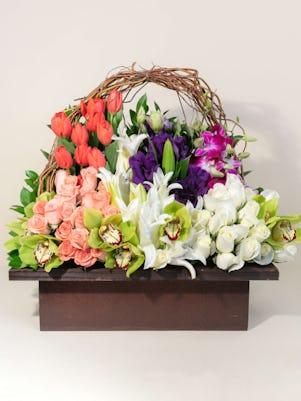 Basket of Beautiful Blooms