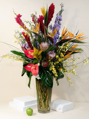 Exotic Colorful Cheer in a Vase
