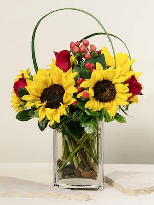 Sunflower & Roses Cube