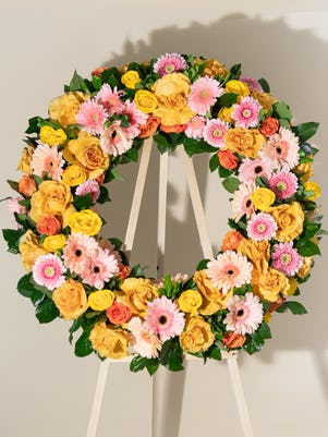An Elegant Rose Wreath